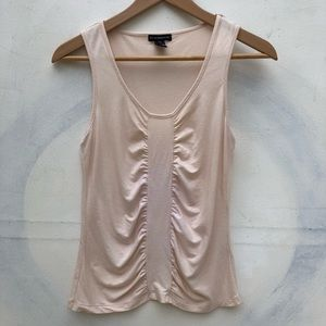 Club Monaco Blush Sleeveless Top with Front Detail